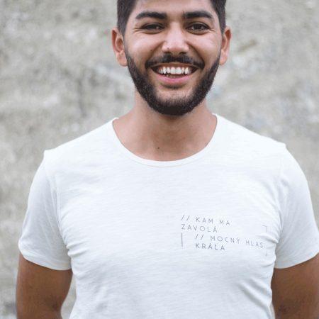KAM MA ZAVOLÁ – pánske tričko (krémové)